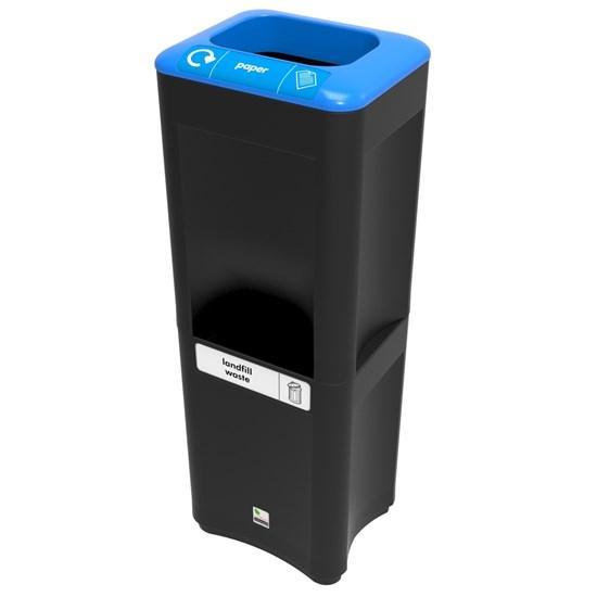 Урна для сбора бумаги и общего несортируемого мусора stack duo big