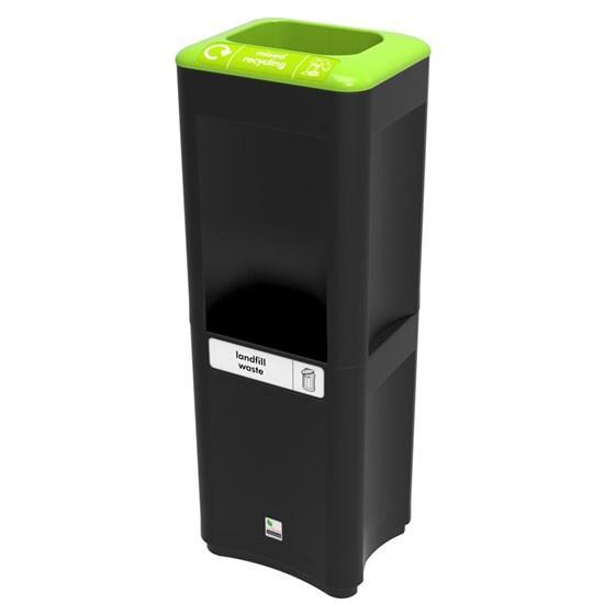Урна для перерабатываемого и общего мусора