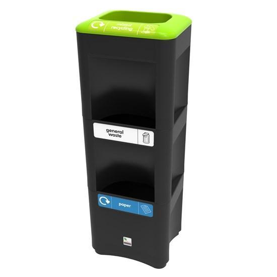 Урна стойка для раздельного сбора 3 типов мусора
