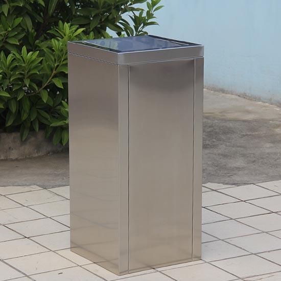 Урна для мусора с плавающей крышкой из нержавеющей стали