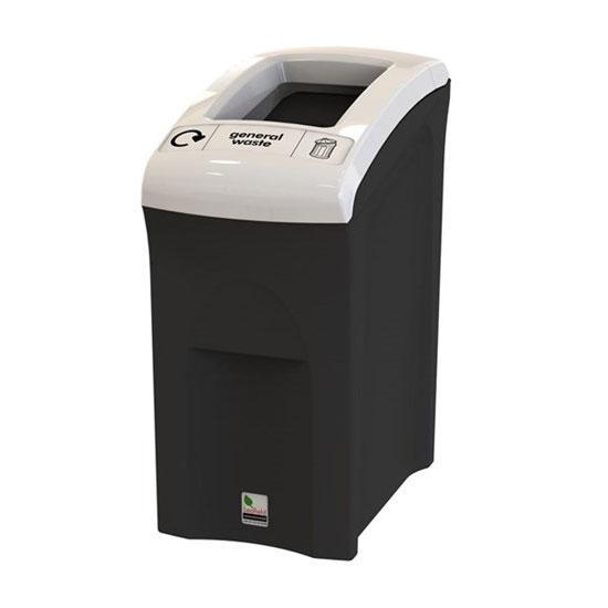 офисная напольная урна для сбора общего мусора 55 литров