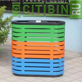 Урна для сбора 2 видов мусора в помещениях