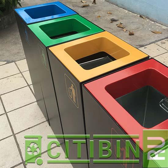 модульные квадратные урны для раздельного сбора мусора