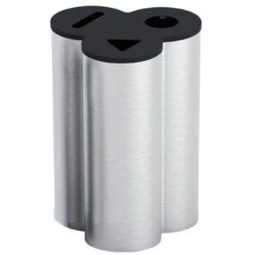 Офисная урна из нержавеющей стали для 3 видов мусора