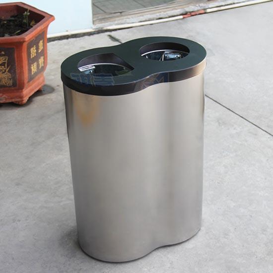 Урна офисная для сбора 2 видов мусора