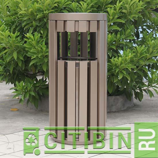 Урна для мусора из металлических прутьев для установки в парках