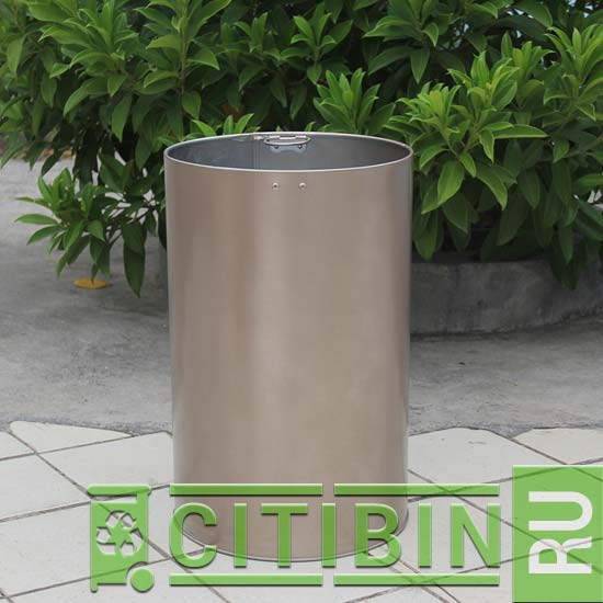Оцинкованный мусорный бак для урны
