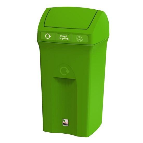 Урна для сбора мусора с качающейся крышкой