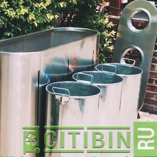 урна для помещений для раздельного сбора мусора