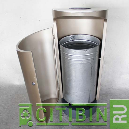 Уличная циллиндрическая мусорная урна 100 литров