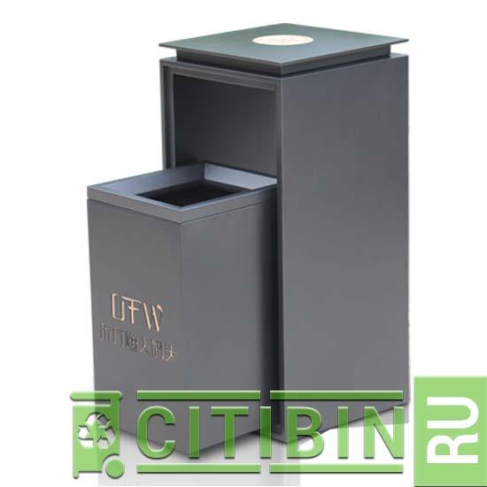 Выдвижная металлическая мусорная урна RAILS 97
