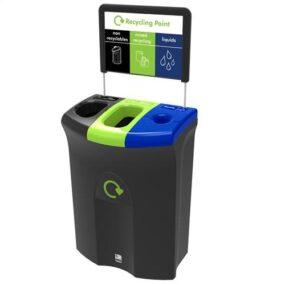 Урна для 2 типов мусора и слива недопитой жидкости