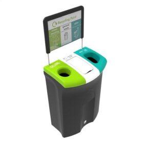 Муорная урна для сортировки 3 видов мусора в помещениях (110 литров)