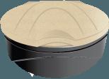Держатель пакетов - прозрачная урна Orbis