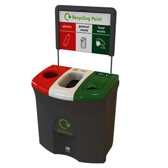Урна мусорная 3 типа мусора для помещений