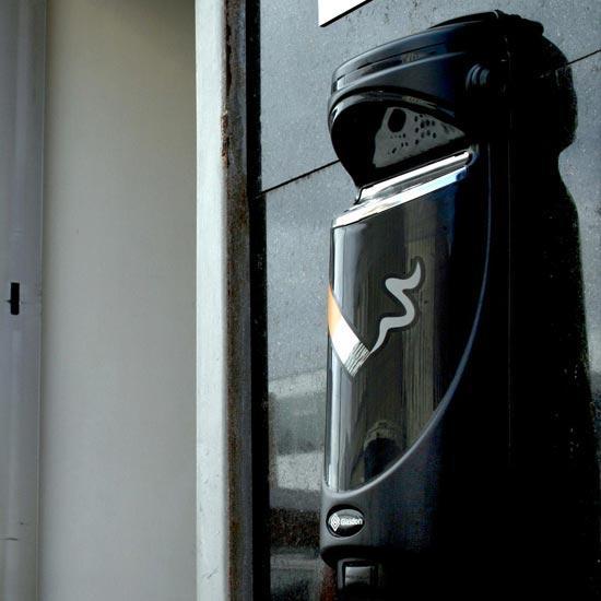 Уличная черная пепельница Glasdon Англия для улицы