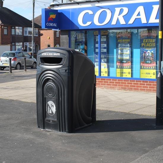 Уличные мусорные урны-контейнеры объемом 360 литров