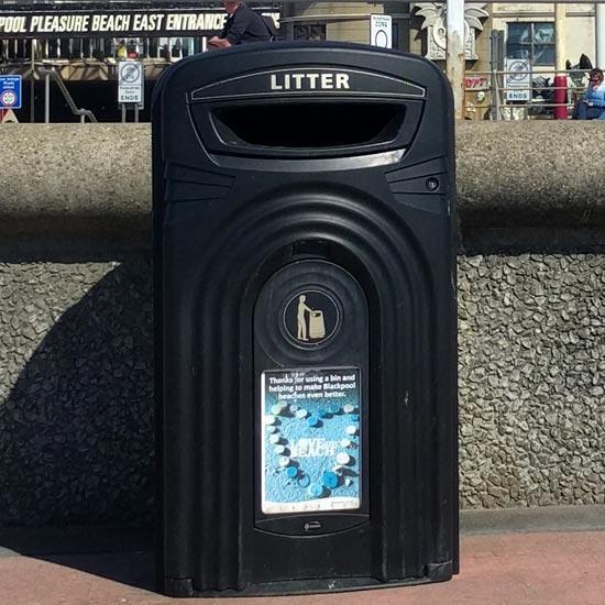 урна-контейнер на 360 литров Glasdon Nexus