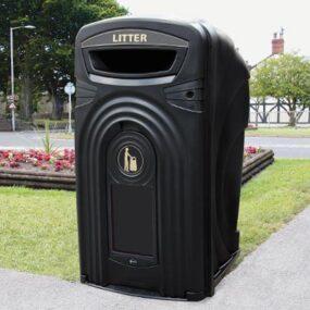 Уличный антивандальный закрытый контейнер для мусора 360 литров