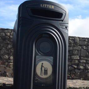 Уличный мусорный контейнер GLASDON NEXUS 360