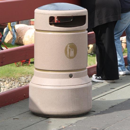 Уличная урна для мусора на 100 литров светлая