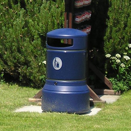 Большая уличная мусорная урна синего цвета Glasdon plaza Англия