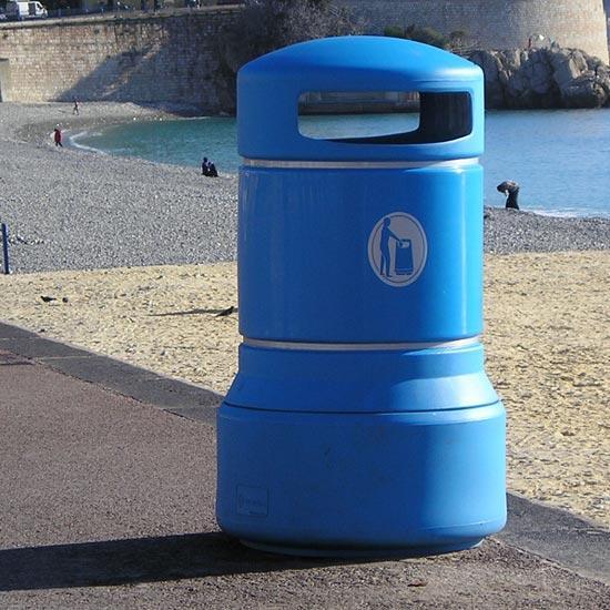 Урна для мусора на 100 литров антивандальная Glasdon Plaza