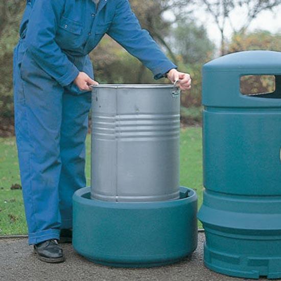 Мусорная урна с баком зеленая 100 литров