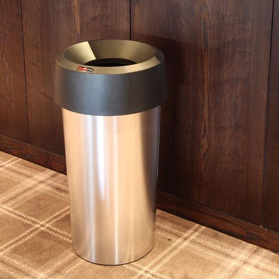мусорная урна с круглой крышкой серебро 50 литров