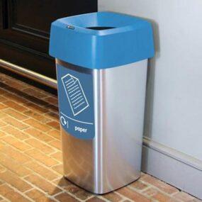 Квадратная урна для мусора офисная vista