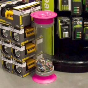 Прозрачный контейнер для батареек C-Thru 10 Glasdon