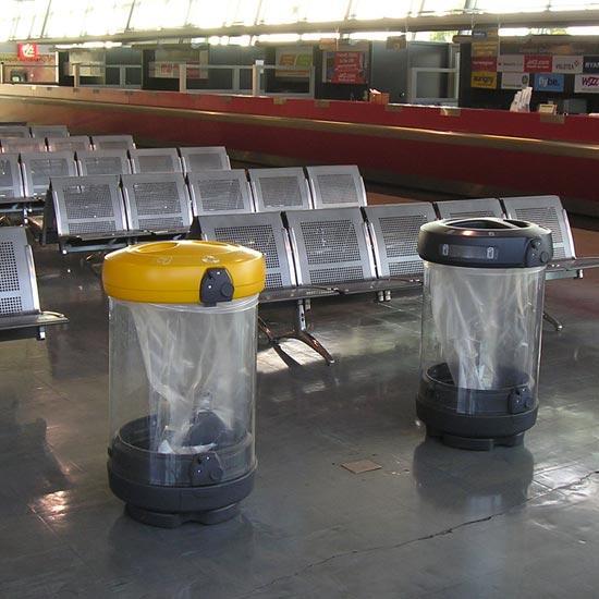 Прозрачные урны для мусора в аэропорт C-Thru Glasdon