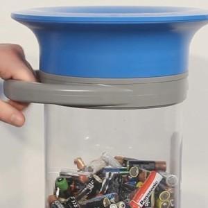 Прозрачный контейнер для сбора батареек 15 литров