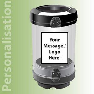 Прозрачная мусорная урна для помещений C-Thru General