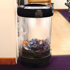 Прозрачная урна для сбора мусора 180 литров GLASON General