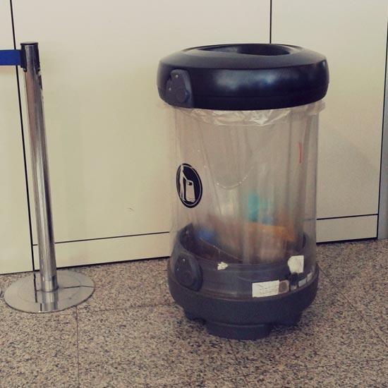 Урна для сбора мусора в помещении прозрачная C-Thru General