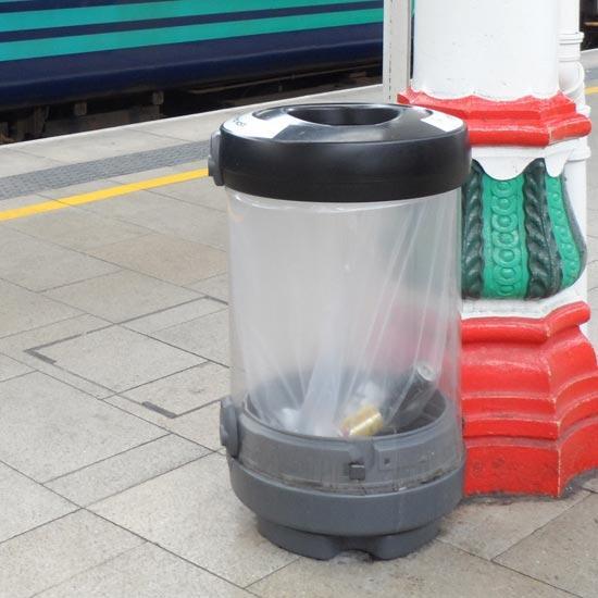 Урна мусорная прозрачная напольная C-Thru Glasdon General