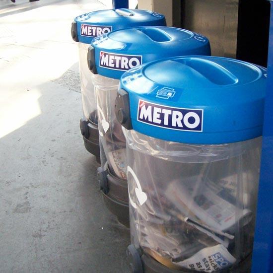 Прозрачная мусорная урна для сбора бумаги C-Thuru GLASDON