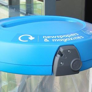 Прозрачная мусорная урна для раздельного сбора бумаги C-180