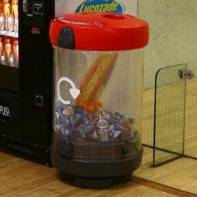 Внутренняя прозрачная урна для раздельного сбора пластиковых бутылок GLASDON