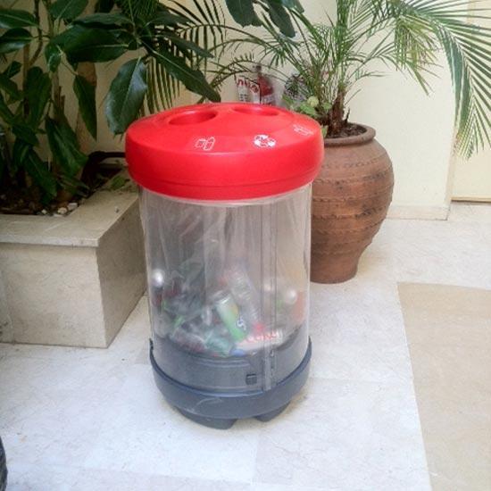 Мусорная прозрачная урна для пластиковых бутылок C-THRU Glasdon