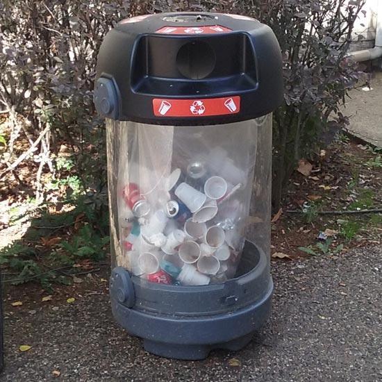 Прозрачная мусорка для улиц