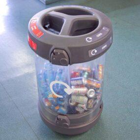 Урна с прозрачным корпусом для раздельного сбора мусора C-thru 180 литров