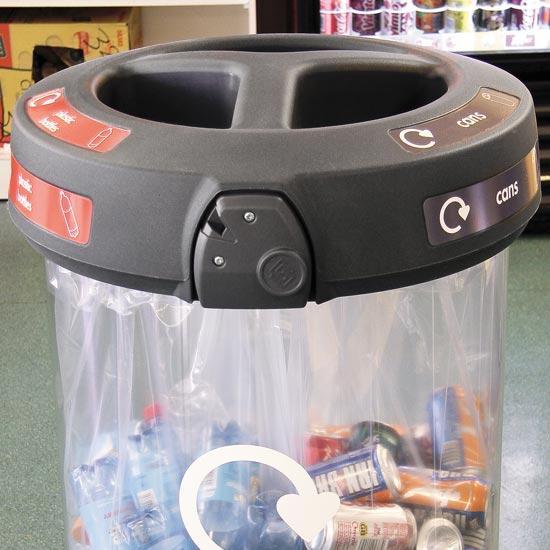 Урна прозрачная для 3 типов мусора C-Thru Glasdon