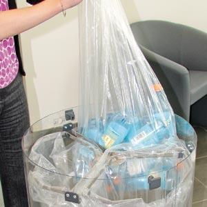 Прозрачные урны для раздельного сбора мусора C-Thru open