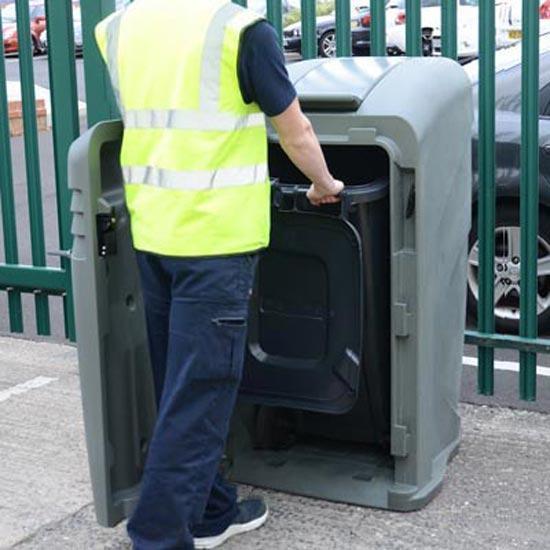 уличный мусорный бак контейнер с закрытым верхом Англия