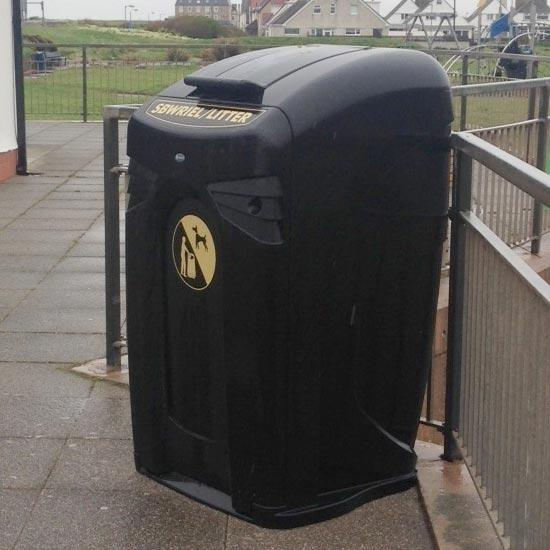 уличный мусорный контейнер с крышкой NEXUS City Glasdon 140/240 литров