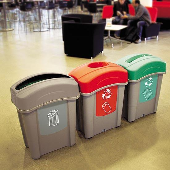 Урны кабинетные для раздельного сбора мусора ECO Nexus 60 литров