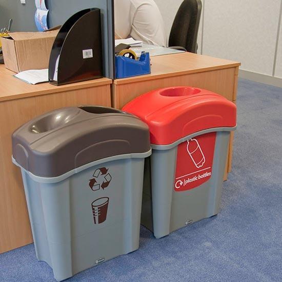 Мусорные урны в коридоре для раздельного сбора мусора Eco Nexus 60 литров