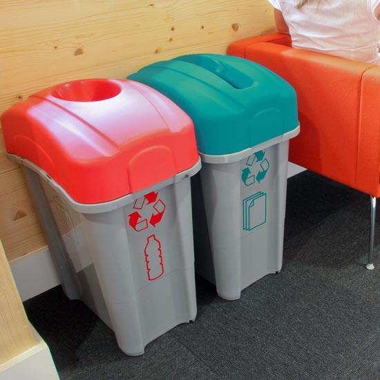Мусорные урны для раздельного мусора Glasdon Eco Nexus 60